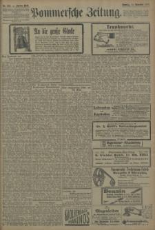 Pommersche Zeitung : organ für Politik und Provinzial-Interessen. 1909 Nr. 268 Blatt 1