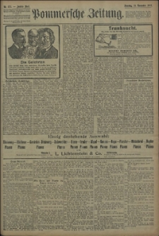 Pommersche Zeitung : organ für Politik und Provinzial-Interessen. 1909 Nr. 273 Blatt 2