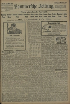 Pommersche Zeitung : organ für Politik und Provinzial-Interessen. 1909 Nr. 275