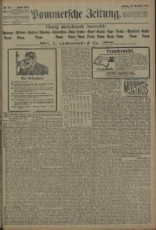 Pommersche Zeitung : organ für Politik und Provinzial-Interessen. 1909 Nr. 279 Blatt 1