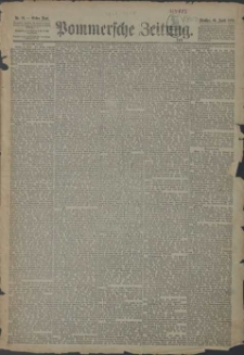 Pommersche Zeitung : organ für Politik und Provinzial-Interessen. 1889 Nr. 196 Blatt 1
