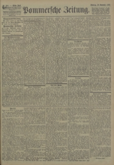 Pommersche Zeitung : organ für Politik und Provinzial-Interessen. 1903 Nr. 292 Blatt 1