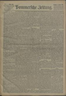 Pommersche Zeitung : organ für Politik und Provinzial-Interessen. 1890 Nr. 8 Blatt 1