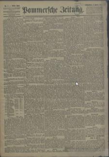 Pommersche Zeitung : organ für Politik und Provinzial-Interessen. 1891 Nr. 9 Blatt 1