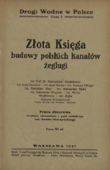 Złota księga budowy polskich kanałów żeglugi