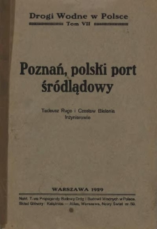 Poznań, polski port śródlądowy