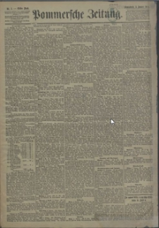 Pommersche Zeitung : organ für Politik und Provinzial-Interessen. 1891 Nr. 86 Blatt 1