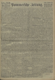 Pommersche Zeitung : organ für Politik und Provinzial-Interessen. 1904 Nr. 214 Blatt 1
