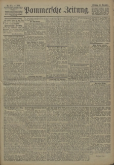 Pommersche Zeitung : organ für Politik und Provinzial-Interessen. 1904 Nr. 278