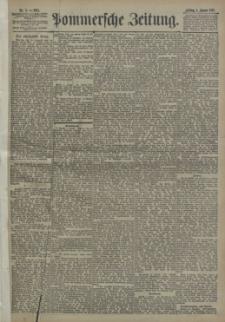 Pommersche Zeitung : organ für Politik und Provinzial-Interessen. 1895 Nr. 1