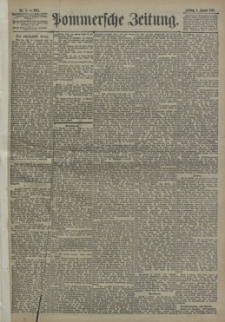 Pommersche Zeitung : organ für Politik und Provinzial-Interessen. 1895 Nr. 3