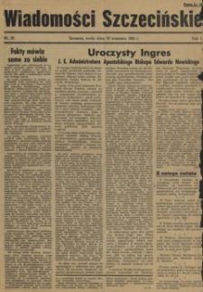 Wiadomości Szczecińskie : biuletyn Urzędu Informacji i Propagandy na Okręg Pomorze Zachodnie. R.1, 1934 nr 33