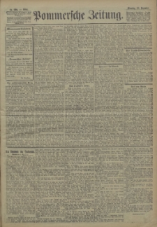 Pommersche Zeitung : organ für Politik und Provinzial-Interessen. 1904 Nr. 298