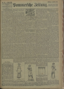 Pommersche Zeitung : organ für Politik und Provinzial-Interessen. 1909 Nr. 284
