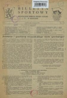 Biuletyn Sportowy Wojewódzkiego Komitetu Kultury Fizycznej w Szczecinie. 1955 nr 1