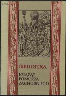 Biblioteka Książąt Pomorza Zachodniego : katalog