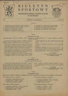 Biuletyn Sportowy Wojewódzkiego Komitetu Kultury Fizycznej w Szczecinie. 1955 nr 3