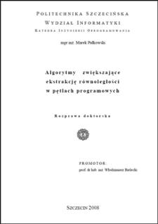 Algorytmy zwiększające ekstrakcję równoległości w pętlach programowych
