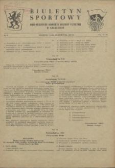 Biuletyn Sportowy Wojewódzkiego Komitetu Kultury Fizycznej w Szczecinie. 1955 nr 7