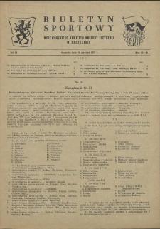 Biuletyn Sportowy Wojewódzkiego Komitetu Kultury Fizycznej w Szczecinie. 1955 nr 11
