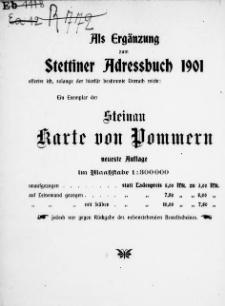 Adress- und Geschäfts-Handbuch für Stettin : nach amtlichen Quellen zusammengestellt. 1901