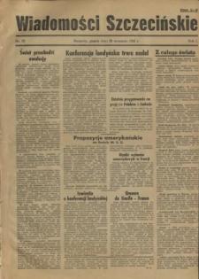 Wiadomości Szczecińskie : biuletyn Urzędu Informacji i Propagandy na Okręg Pomorze Zachodnie. R.1, 1945 nr 37