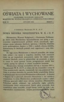 Oświata i Wychowanie. R.3, 1931 nr 1