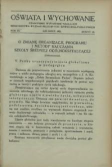 Oświata i Wychowanie. R.3, 1931 nr 10