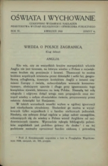 Oświata i Wychowanie. R.4, 1932 nr 4