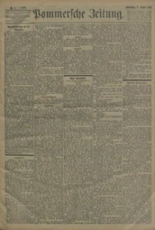 Pommersche Zeitung : organ für Politik und Provinzial-Interessen. 1898 Nr. 206