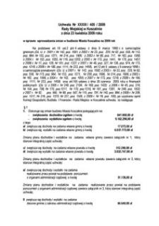 Uchwała Rady Miejskiej w Koszalinie nr XXXIII/405/2009