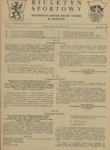 Biuletyn Sportowy Wojewódzkiego Komitetu Kultury Fizycznej w Szczecinie. 1955 nr 16