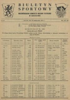 Biuletyn Sportowy Wojewódzkiego Komitetu Kultury Fizycznej w Szczecinie. 1955 nr 19
