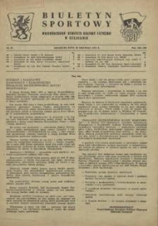 Biuletyn Sportowy Wojewódzkiego Komitetu Kultury Fizycznej w Szczecinie. 1955 nr 23