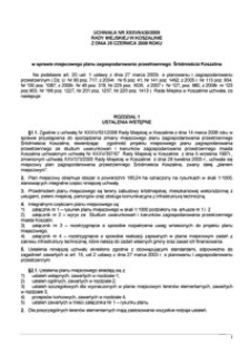 Uchwała Rady Miejskiej w Koszalinie nr XXXVII/430/2009
