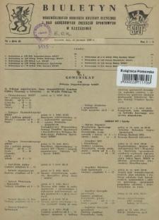 Biuletyn Wojewódzkiego Komitetu Kultury Fizycznej i Rad Okręgowych Zrzeszeń Sportowych w Szczecinie. R.2, 1956 nr 1