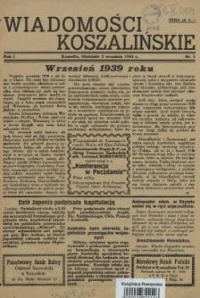 Wiadomości Koszalińskie. 1945 nr 1