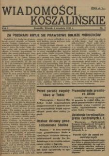 Wiadomości Koszalińskie. 1945 nr 2