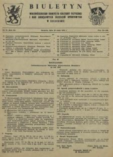 Biuletyn Wojewódzkiego Komitetu Kultury Fizycznej i Rad Okręgowych Zrzeszeń Sportowych w Szczecinie. R.2, 1956 nr 10