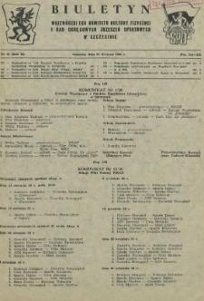 Biuletyn Wojewódzkiego Komitetu Kultury Fizycznej i Rad Okręgowych Zrzeszeń Sportowych w Szczecinie. R.2, 1956 nr 15