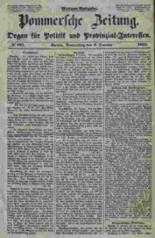 Pommersche Zeitung : organ für Politik und Provinzial-Interessen. 1853 Nr. 167