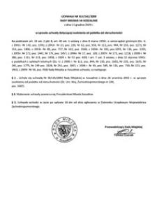 Uchwała Rady Miejskiej w Koszalinie nr XLV/541/2009