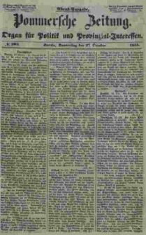 Pommersche Zeitung : organ für Politik und Provinzial-Interessen. 1853 Nr. 204