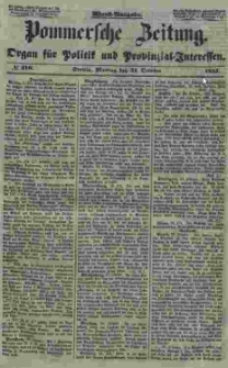Pommersche Zeitung : organ für Politik und Provinzial-Interessen. 1853 Nr. 210