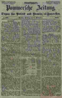 Pommersche Zeitung : organ für Politik und Provinzial-Interessen. 1853 Nr. 218