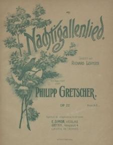 Nachtigallenlied : Gedicht von Richard Leander : Op. 22