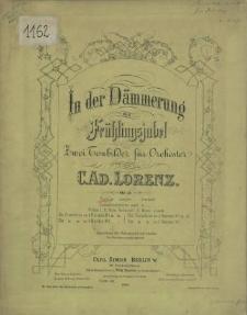 In der Dämmerung und Frühlingsjubel : zwei Tonbilder für Orchester : Op. 19