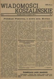 Wiadomości Koszalińskie. 1945 nr 4