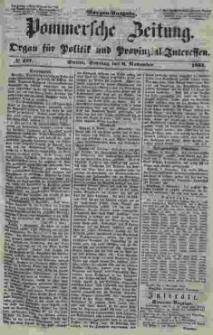 Pommersche Zeitung : organ für Politik und Provinzial-Interessen. 1853 Nr. 221