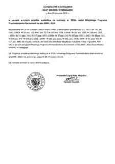 Uchwała Rady Miejskiej w Koszalinie nr XLVI/551/2010